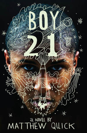 Book cover for Boy 21 by Matthew Quick showing a black boy's face with doodling over the top